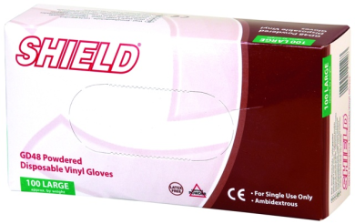 Vinyl Gloves (Powdered) Box 100
