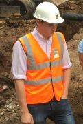 Jamie Wasley on site