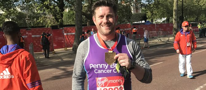 Matt's marathon success
