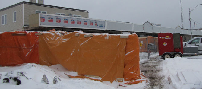 Laying blocks or placing concrete in cold weather?