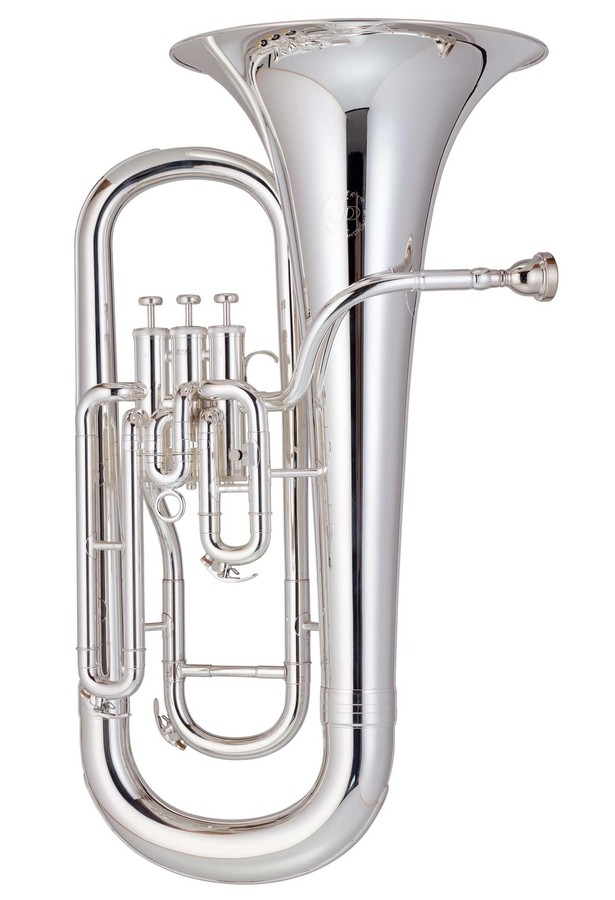 An image of JP074S Bb Euphonium 3 Valve Silverplate