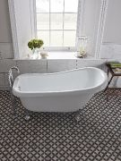 Claremont slipper bath over head view_Lifestyle