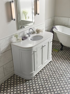 Image 3 Marlborough 1200mm freestanding curved basin unit cotton white