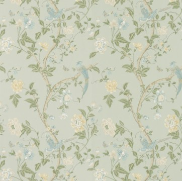 6) Pic 6 Summer Palace Eau De Nil Floral Wallpaper