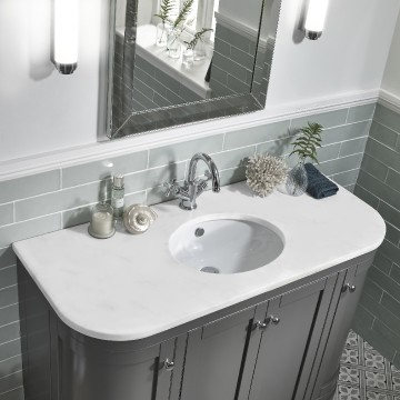 Pic 3 Marlborough 1200mm curved unit charcoal with traditional mirror
