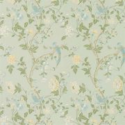 Summer Palace Eau De Nil Floral Wallpaper