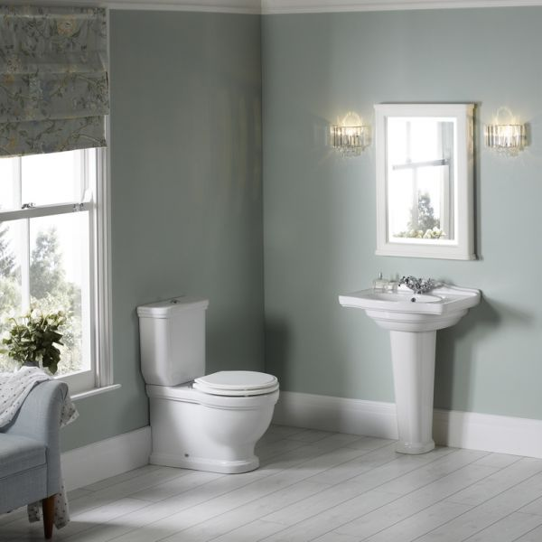Bathroom wall cabinets with mirrors - Close Coupled Wc Pan Amp Cistern Laura Ashley Bathroom Collection