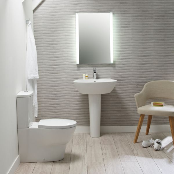 Bayswater Close Coupled WC Pan, Seat & Cistern