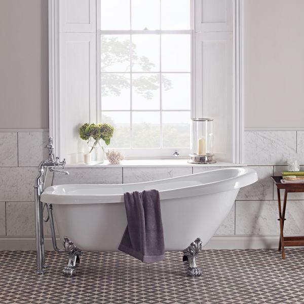 Claremont 1550mm Slipper Bath Laura Ashley Bathroom