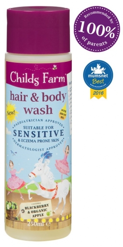 Childs Farm Hair and Body Wash- Blackberry and Organic Apple