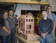 3020_08 Me and the team of model makers with the dollshouse