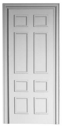 Door with surround