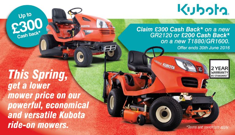 Kubota Spring Cash Back