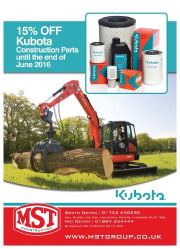 15% Off Kubota Construction Parts