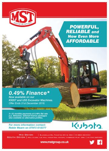 Kubota Construction Finance Offer 2016