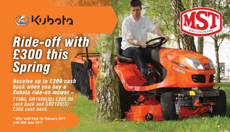 Kubota Spring Cash Back 2017