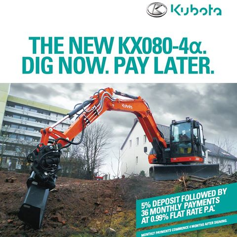Kubota Digger Offer 2017
