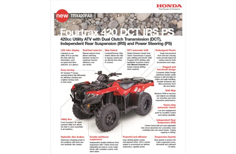 HONDA FOURTRAX 420FA6