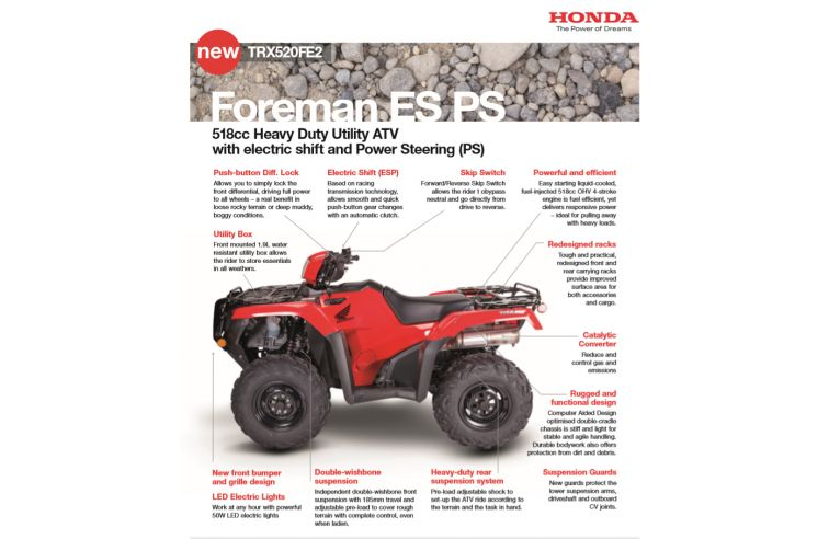 HONDA FOREMAN 520FE2