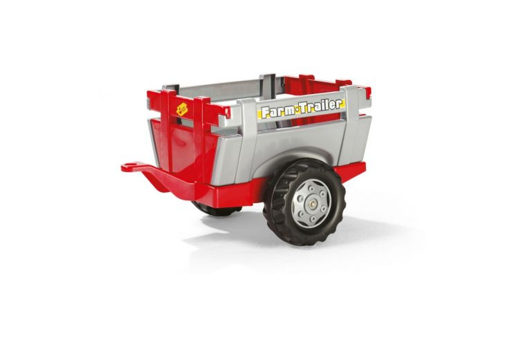 Trailer, red and silver for Massey Ferguson pedal tractor