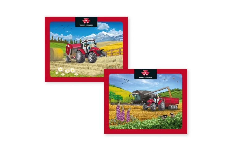Set of 2 jigsaw puzzles of 36 pieces for children