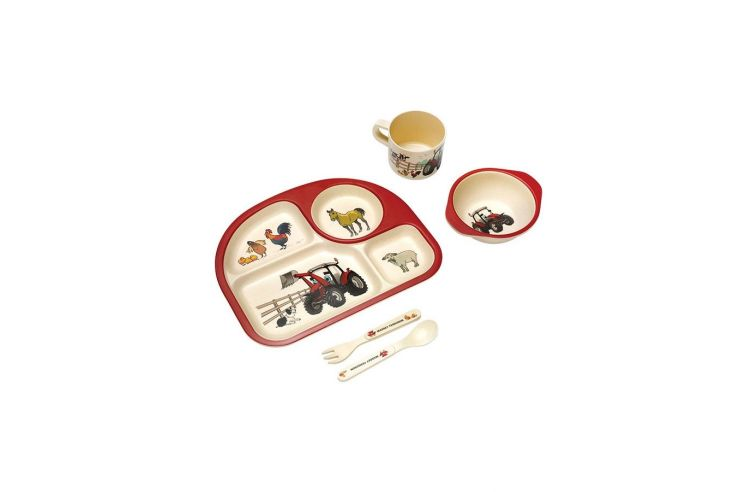 Kids' lunch Set with tractors