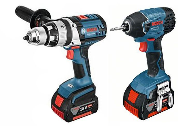 BOSCH 18V DRILL/ DRIVER TWIN PACK (2 X 4.0A BATTERIES)