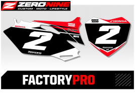 Custom number plates - Honda Factory Pro Series
