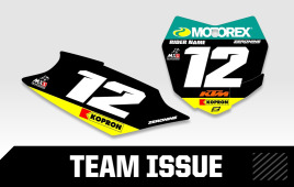 Custom number plates - KTM Team Issue Series