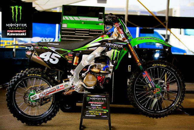2014 Pro Circuit Monster Team Graphics Kit For Kawasaki Kx125 Kx250 03