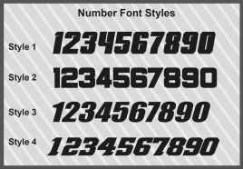 Custom number plates - Honda Team style