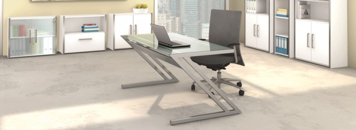 Executive Glass Desk