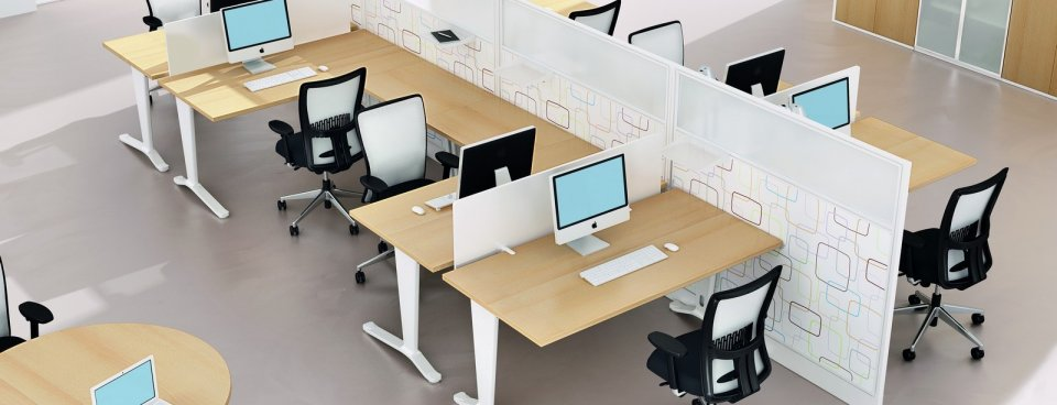 Modular office furniture open plan bench desks online for Open design furniture