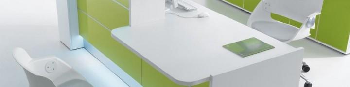 Valde High Gloss Reception Desks
