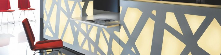 Zigger Illuminated Reception Desks