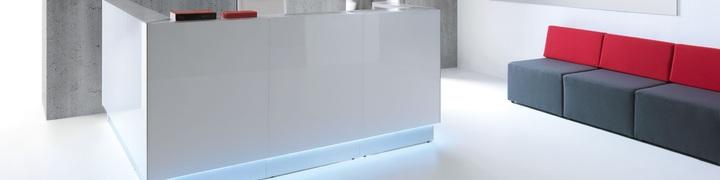 Glass Front Reception Desks