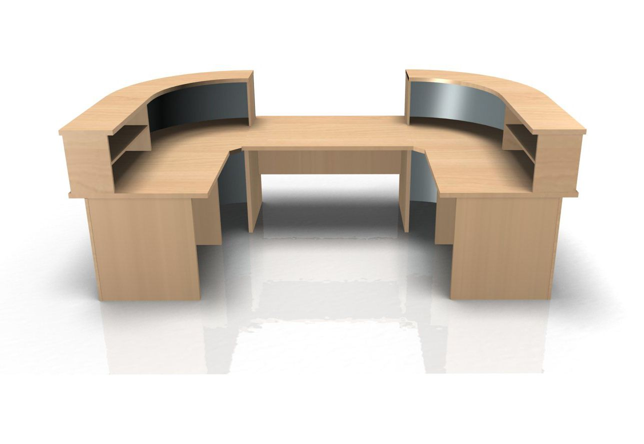 Kompass U shape reception desk with low level section - Online Reality