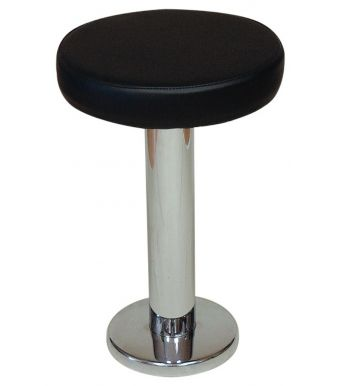 Chrome Floor Fix Low Stool