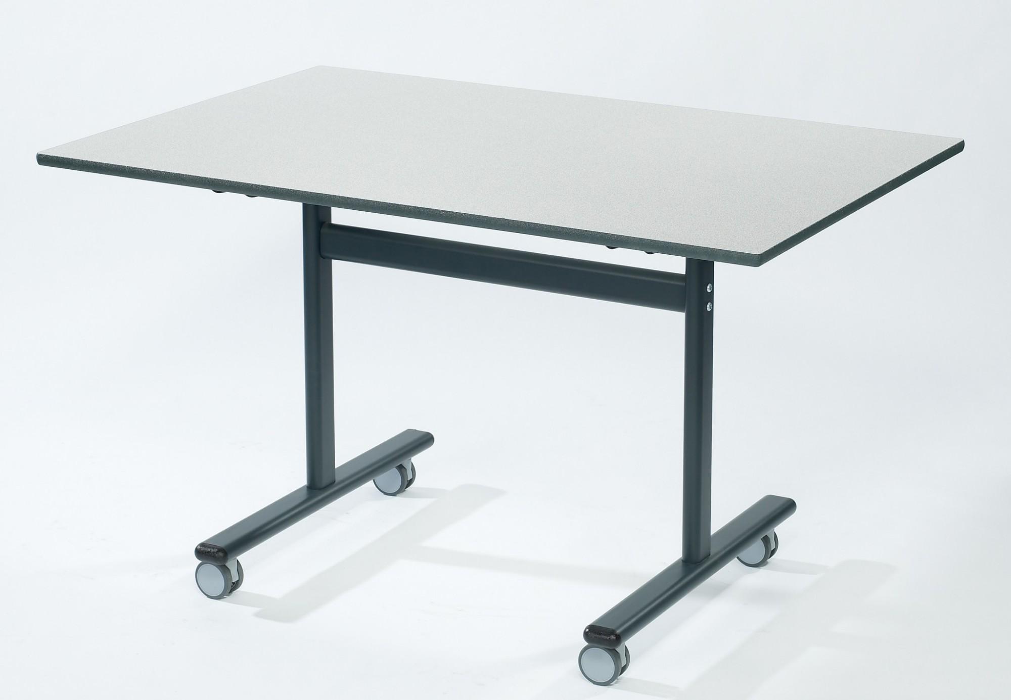 Rectangular flip top desk premium 1200mm x 600mm for Flip top computer desk