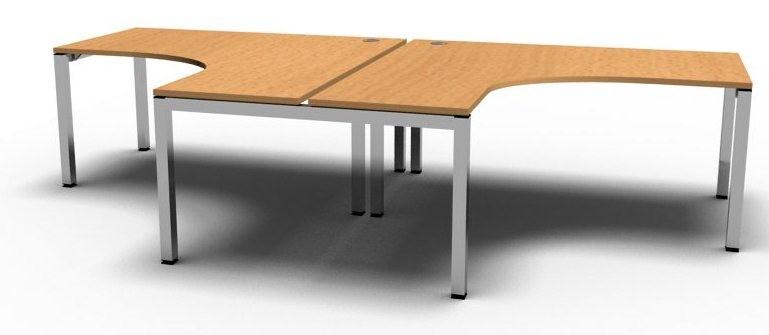 Gateway 2 Person Corner Bench Desk Configuration 1 - Online Reality