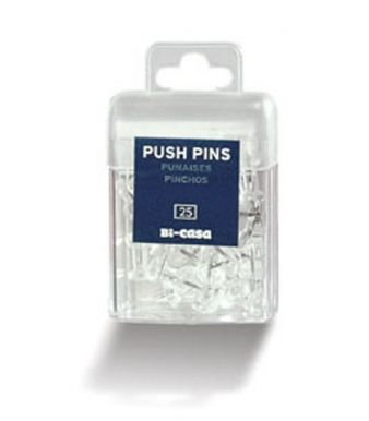 25 Transparent Pushpins