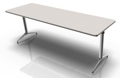 White & White Table