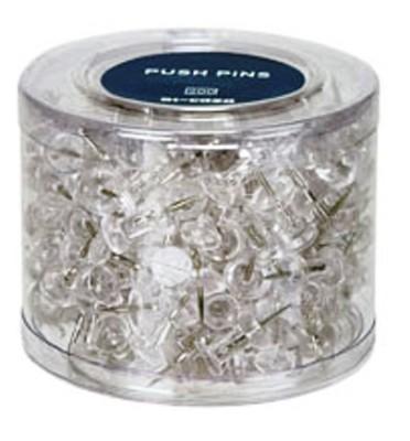 200 Transparent Pushpins
