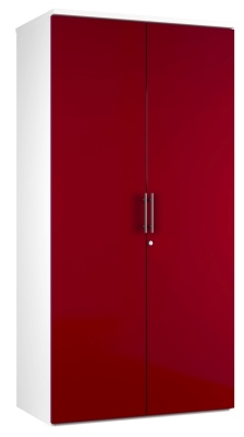 2 DOOR STORAGE UNIT DD19 - Red V2 (FLAT)
