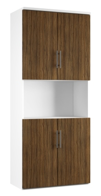 Combinantion Cupboard - Dark Wood Grain (FLAT)