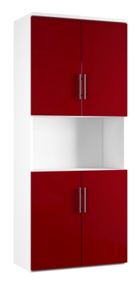 Combinantion Cupboard - Red (FLAT)