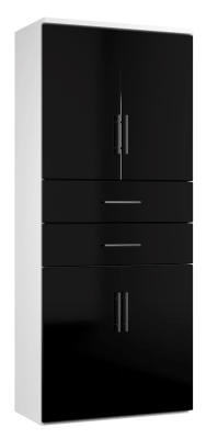 Combinantion Cupboard Variant 2- Black (FLAT)