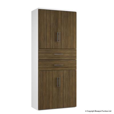 Combinantion Cupboard Variant 2- Dark Wood Grain (FLAT)