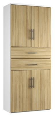 Combinantion Cupboard Variant 2- Light Wood Grain (FLAT)
