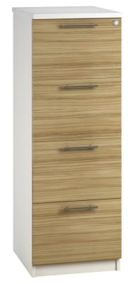 Filing Cabinet 4 Drawer Light Wood V1 01 (FLAT)